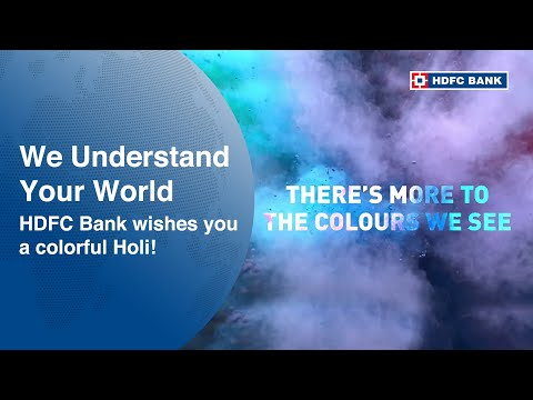 HDFC Bank wishes you a colorful Holi!