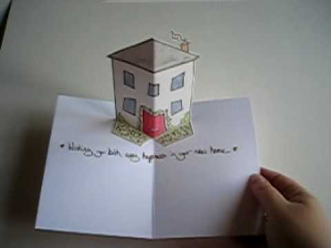 New home pop up card youtube for Popup house youtube