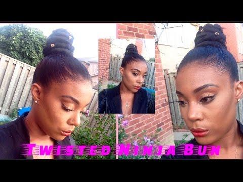Download HOW TO : TWISTED NINJA BUN USING BRAIDING HAIR