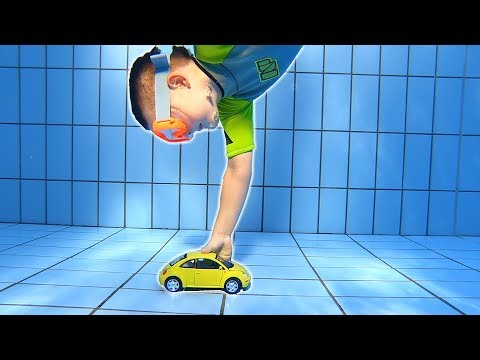 Diving down for VW Bug Toy Car | Swimming Underwater in Pool