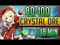 - Genshin Impact Crystal Chunk Farm | 18 MIN | 80-100 ore | Easy MAP