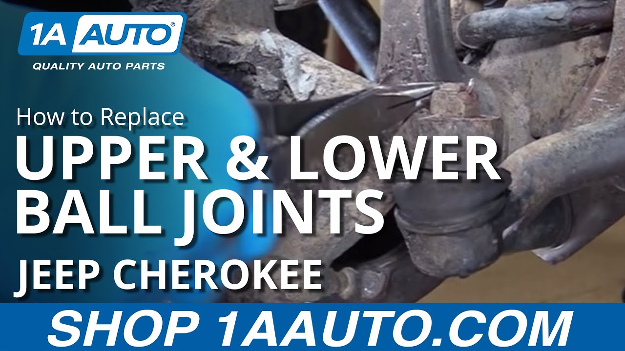 hight resolution of how to replace install front upper lower ball joints 90 01 jeep cherokee
