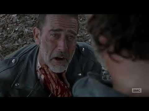 Rick Vs Negan (Round 3) Rick Slits Negan's Throat & Saves Him ~ The Walking Dead Final 8x16
