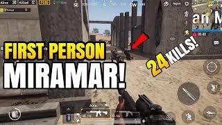 FPP ON MIRAMAR!   24 Kills Solo VS Squad   PUBG Mobile