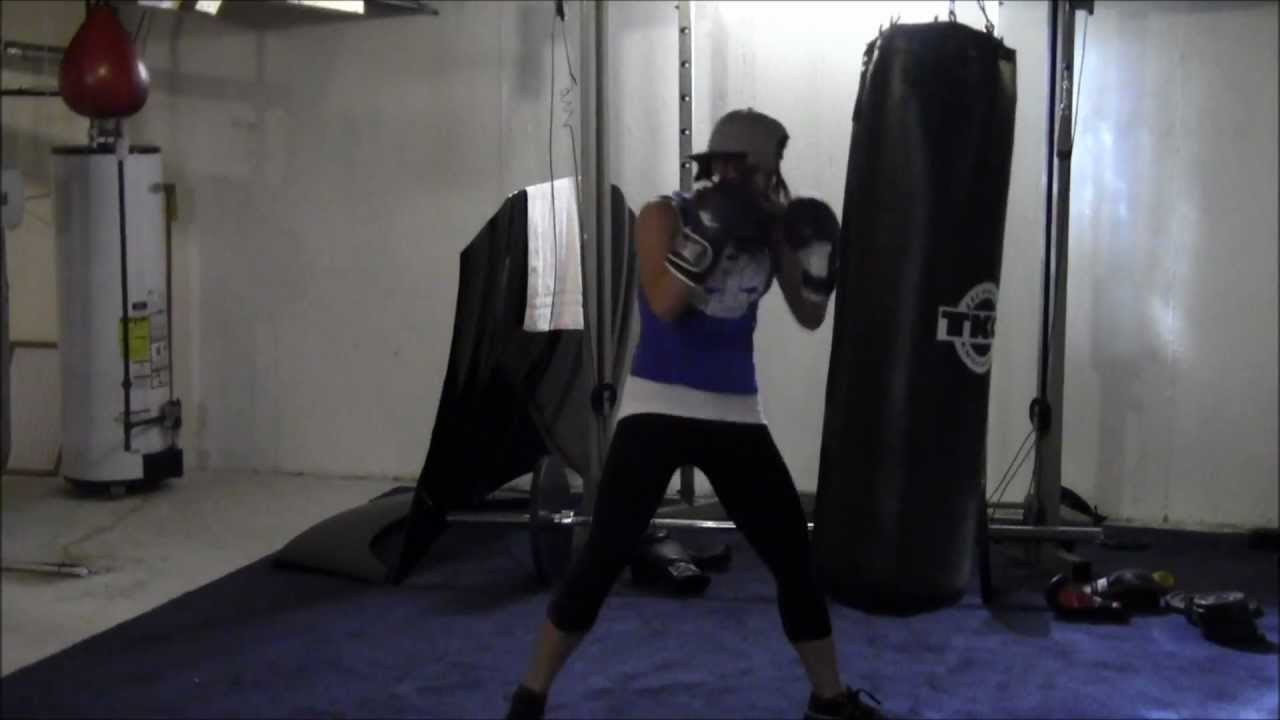 Womens Fitness Boxing Demonstration Heavy Bag Training Your Time With Melisa You
