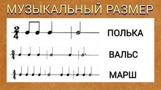 Сольфеджио. Урок 14. Музыкальный размер.