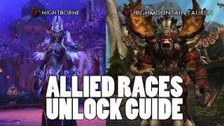 WoW Allied Races Unlock Requirements