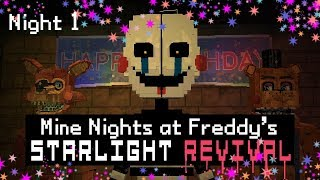 MINE Nights at Freddy's 5 - Starlight Revival - Night 1 (Minecraft FNAF Roleplay)