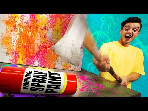 EXPLODING Spray Paint Can Challenge!!