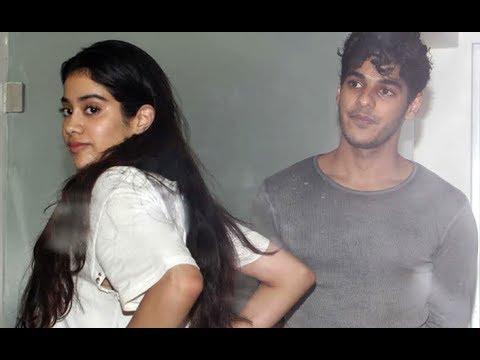 CAUGHT : Jhanvi Kapoor With Rumored Boyfriend Ishaan Khattar On A Movie Date