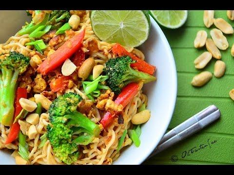 Low Fat Vegan No Oil Pad Thai Noodles