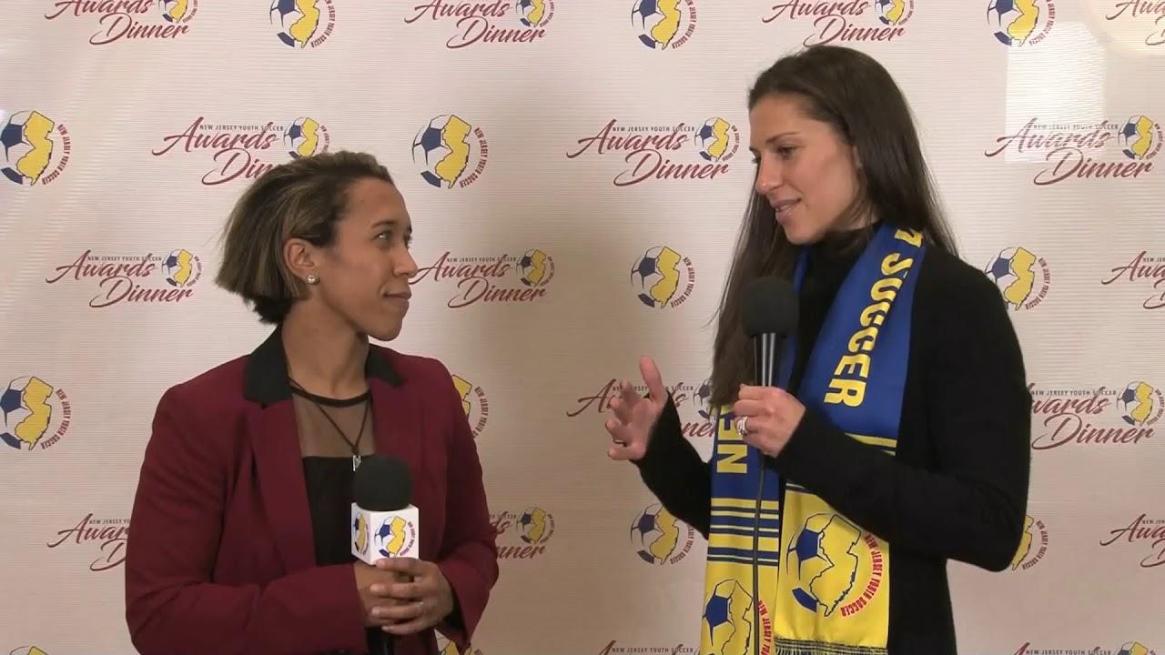 2018 Njys Red Carpet Interview Carli Lloyd Youtube