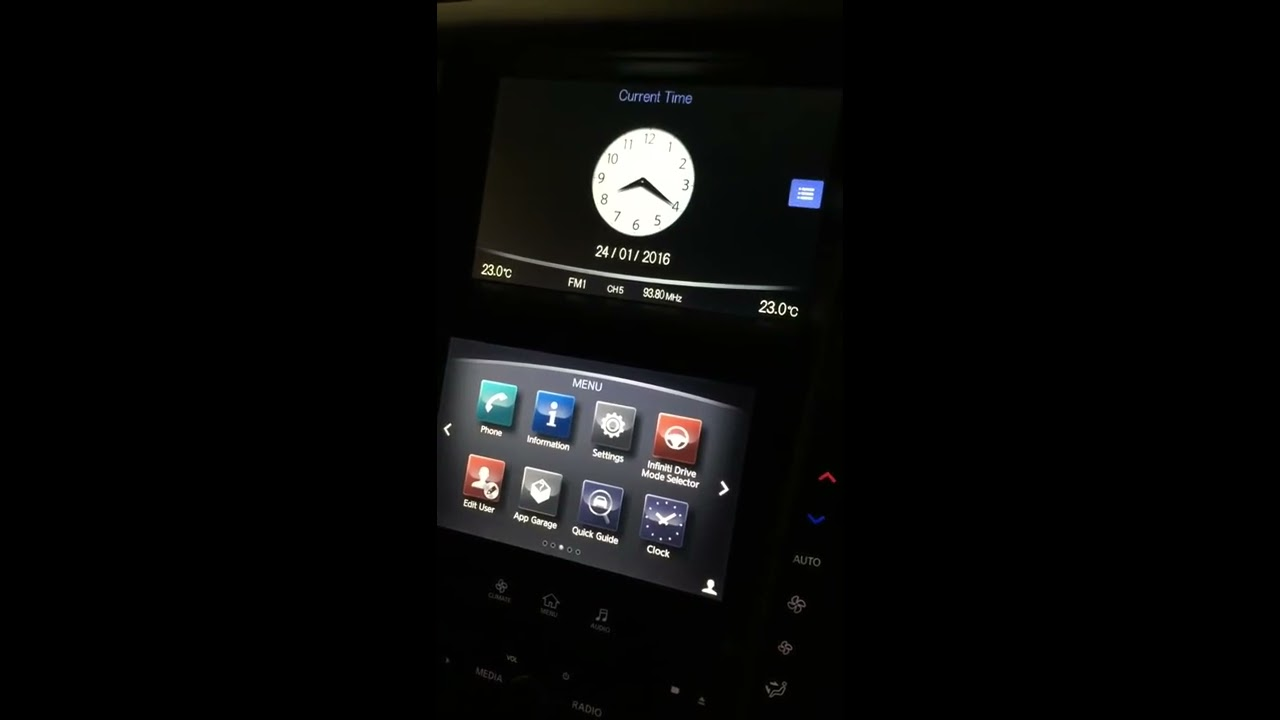 Q50 Aftermarket Android Infotainment Module  Skyline Trooper 05:59 HD