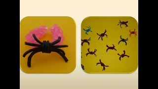 DIY HALLOWEEN QUICK AND EASY SPIDER DECORATION; LOOM BANDS HALLOWEEN SPINNE SCHNELL + EINFACH