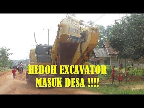 EXCAVATOR SUMITOMO SH 210 Masuk  Desa In Mesuji Lampung Indonesia