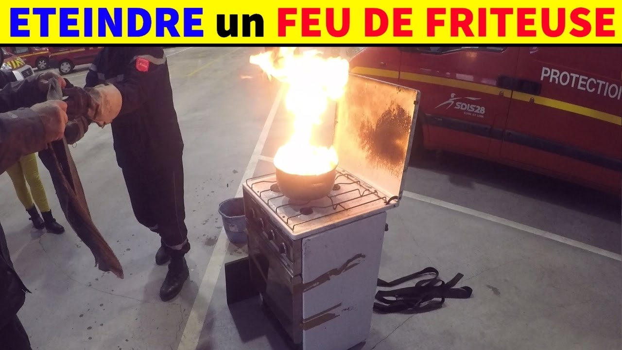 eteindre un feu de friteuse huile feu electrique ou gaz. Black Bedroom Furniture Sets. Home Design Ideas