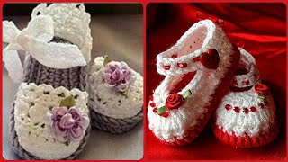 Beautiful And Stylish Baby Hand Made Crochet Shoes New Patterns Design