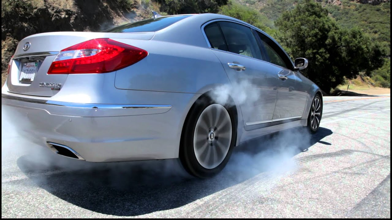 Hyundai Genesis 5 0 R Spec First Burnout Youtube