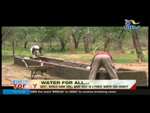 Government, Wolrd Bank drill bore hole in Pokot