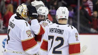 Mike Hoffman buries Keith Yandle's great pass for OT winner