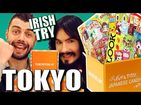 Irish People Taste Test Tokyo Treats!! - (Japanese Candy UnBoxing)