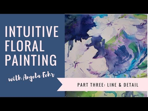 Painting Flowers With Watercolor Part 3 : Line & Detail