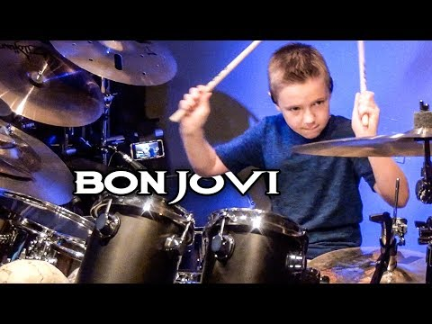 YOU GIVE LOVE A BAD NAME (9 year old Drummer) Drum Cover by Avery Drummer Molek