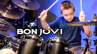 """You Give Love A Bad Name"" Avery Molek, 9 year old Drummer"
