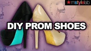 Prom DIY: Glitter Heels for 2013