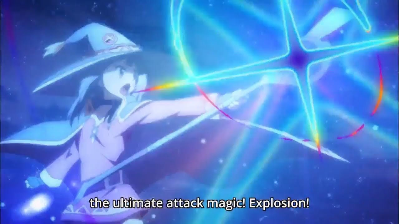 Megumin Use Explosion Spell For The First Time Konosuba 19 Youtube