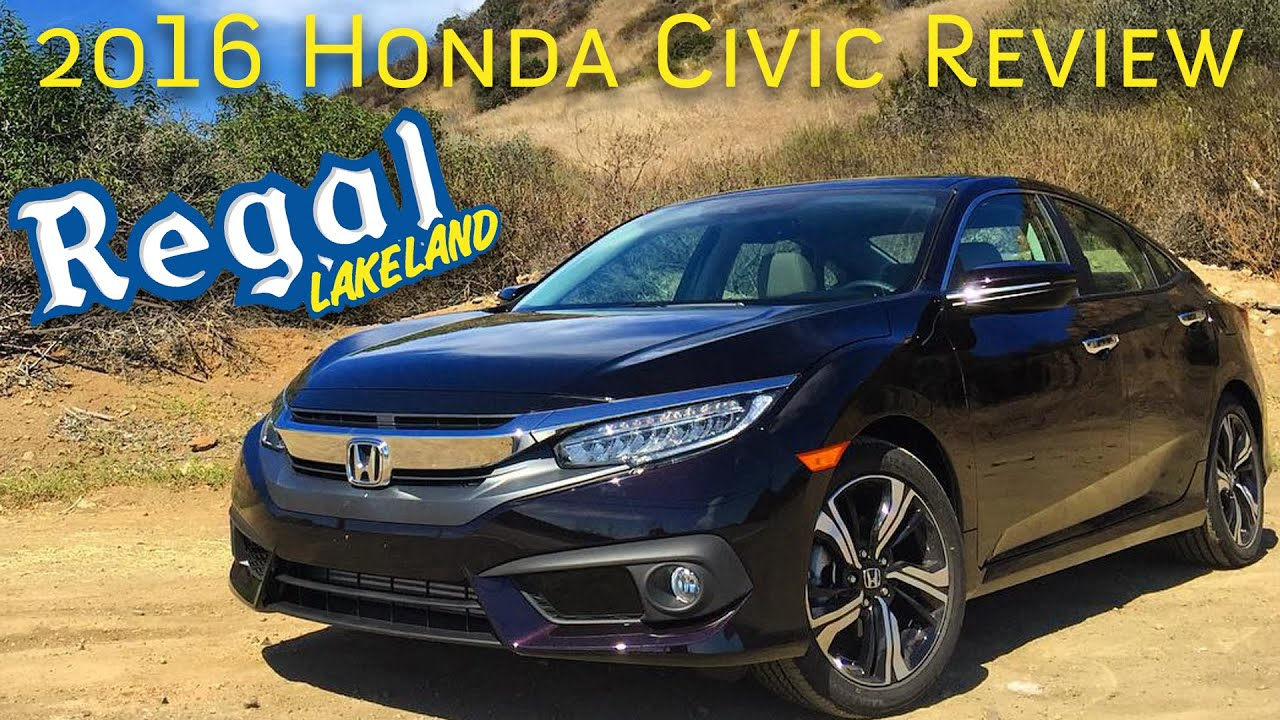2016 honda civic ex sensing test drive review at regallakeland youtube. Black Bedroom Furniture Sets. Home Design Ideas