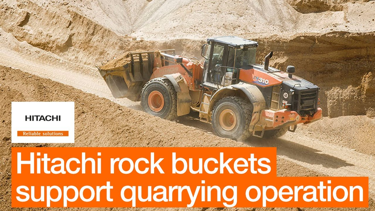 Hitachi rock buckets offer exceptional breakout performance at German quarry