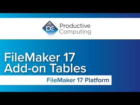 FileMaker 17 Add-On Tables