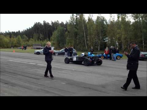 1 Mile Dragrace. Ariel Atom Vs Mercedes SLS AMG. GTBoard 30/9 -12