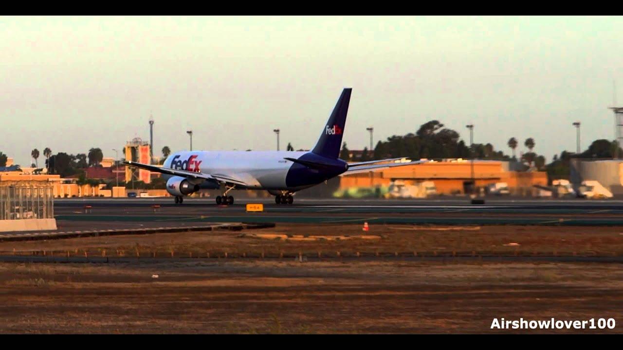 FedEx Express Boeing 767-300ER(F) Sunrise Takeoff San Diego