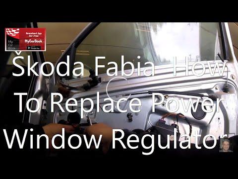 Skoda Fabia How To Replace Power Window Regulator