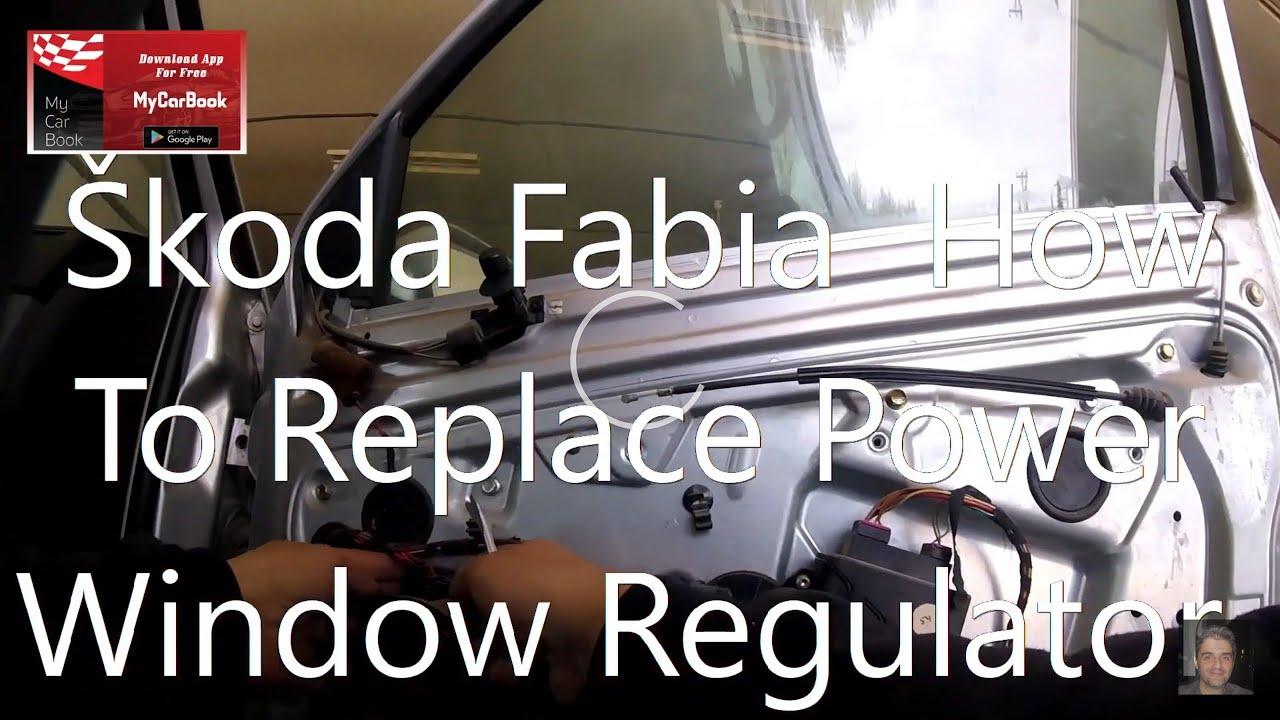 SKODA Fabia 99-07 window regulator repair kit front