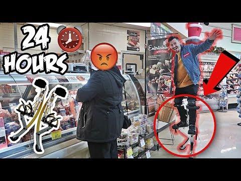 24 HOUR BIONIC LEGS CHALLENGE!! (IN PUBLIC)