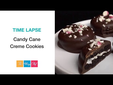 Candy Cane Creme Cookies (Gluten Free, Vegan, Allergy Friendly) Time Lapse