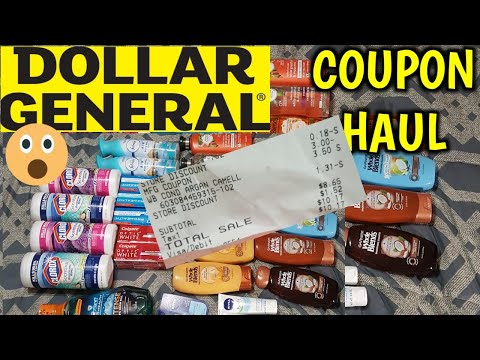 AMAZING Dollar General coupon haul MUST SEE