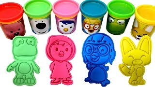 Pororo the Little Penguin 뽀로로 장난감 Play-Doh Mold & Surprise Toys Crong Eddie Loopy Petty Pobby