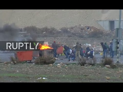 LIVE: Clashes ongoing at Beit El settlement following Trump'