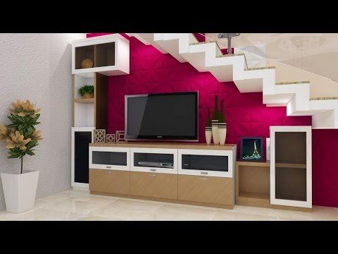 Villa Interiors Client Mohan Kormangala 1St Block Bengaluru | Cabinet Design Under Stairs | Tv Stand | Stairs Storage Ideas | Kitchen | Shelves | Staircase Ideas