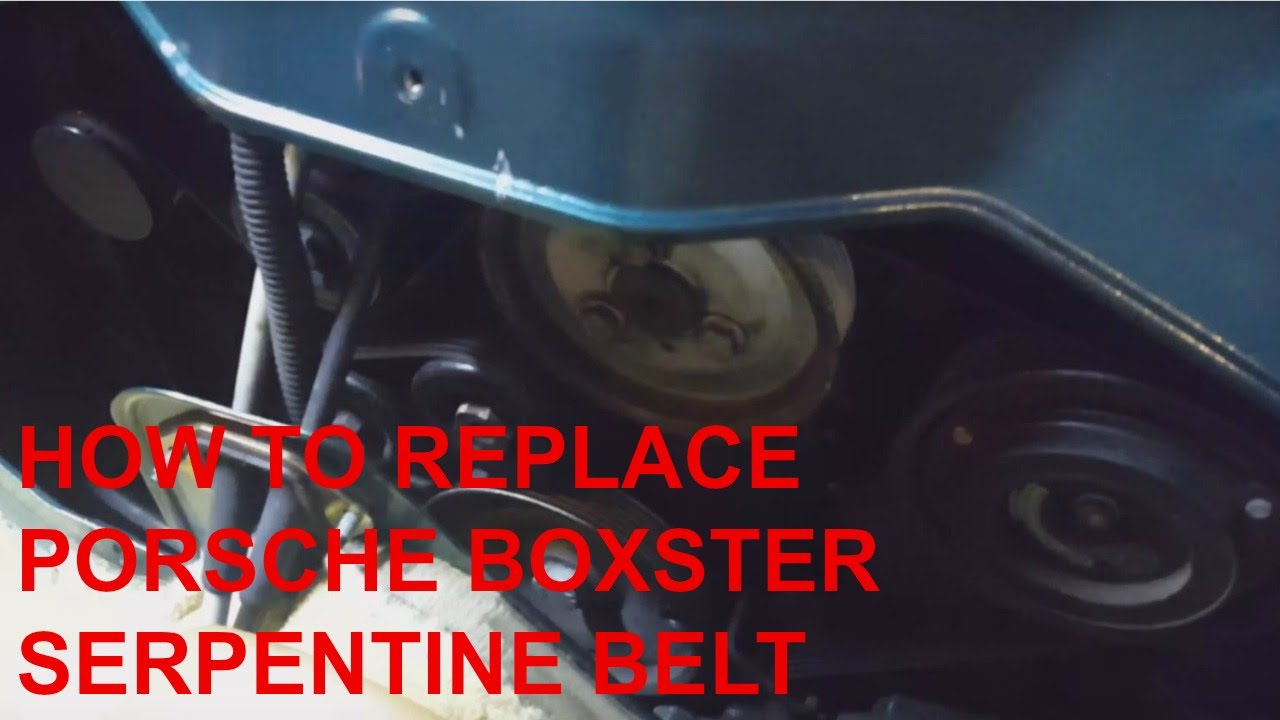 How To Replace Porsche Boxster Engine Serpentine Belt Youtube 2000 Diagram