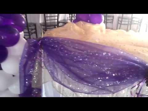 Decoraci n de primera comuni n sencilla de balloon - Como decorar un salon para comunion ...