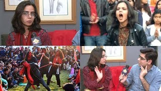 EXCLUSIVE Interview with Arooj Aurangzeb 'Leather Jacket Girl' | Student Solidarity March