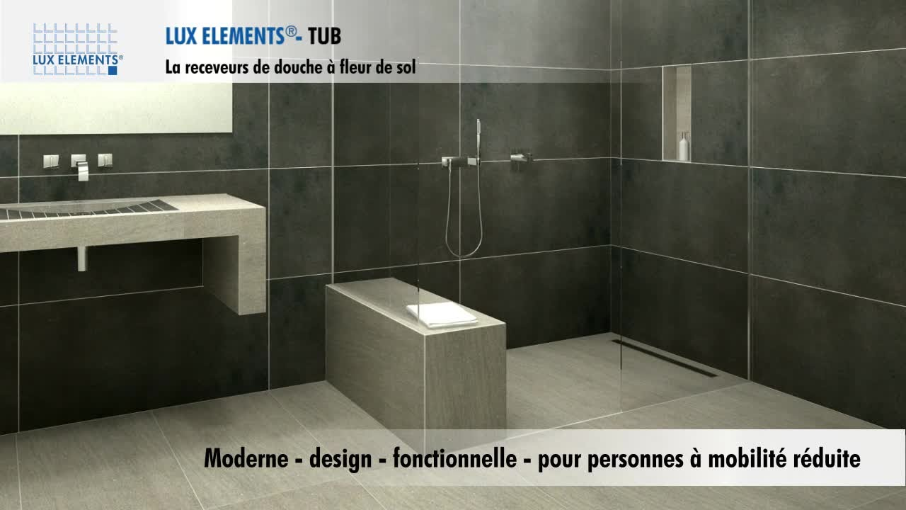 Receveur De Douche Carreler Lux Elements Rectangulaire Of Lux