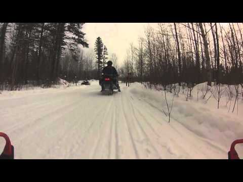 Snowmobile Trip - Cable, Wisconsin - Day 2 - 2/6/16