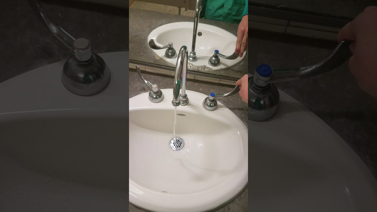 Faucet makes loud noise when turned on - YouTube