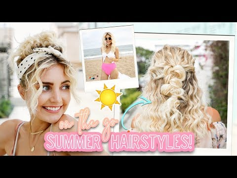 Summer Hairstyles for On the Go! Easy & Quick! | Aspyn Ovard